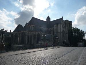 Kostol sv. Michala (Sint Michielskerk) z Mostu sv. Michala