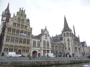 Ghent - plavba môže začať (pohľad na Graslei)