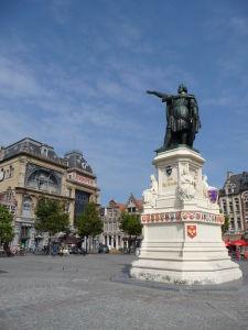 V uliciach Ghentu - Piatkový trh (Vrijdagmarkt)