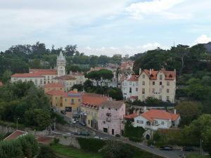 Pohľad na Sintru z paláca