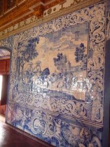 Dlaždice azulejos, typické pre portugalskú architektúru