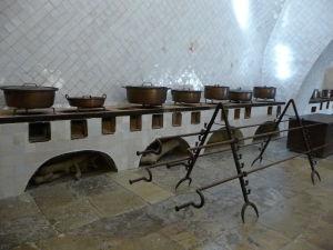 Palácová kuchyňa, kde sa varievalo pre kráľa