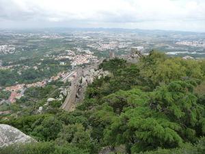 Vyhľad z hradu na okolie