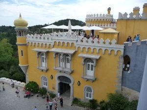 Palác Pena - na streche terasa s kaviarňou