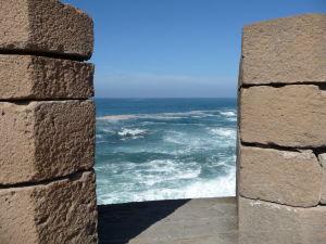 Essaouira - pohľad z opevnenia na Atlantik
