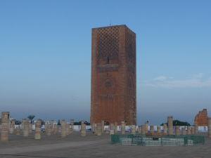 Hassanova veža, ktorá bola plánovaná ako najvyšší minaret na svete
