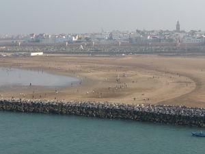 Pláž v meste Salé