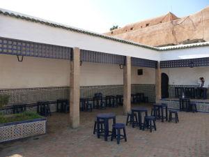 Kaviareň pri botanickej záhrade v Kasbe