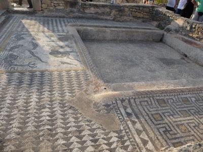 Geometrické mozaiky vo Volubilise
