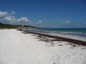 Jedna z tulumských pláží