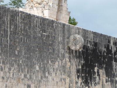 Ihrisko pre loptovú hru (Juego de Pelota) - Obruč, do ktorej sa skórovalo