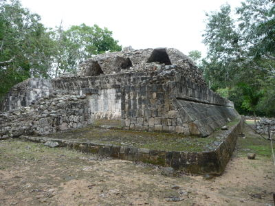 Zvyšky budov v Chichén Itzá