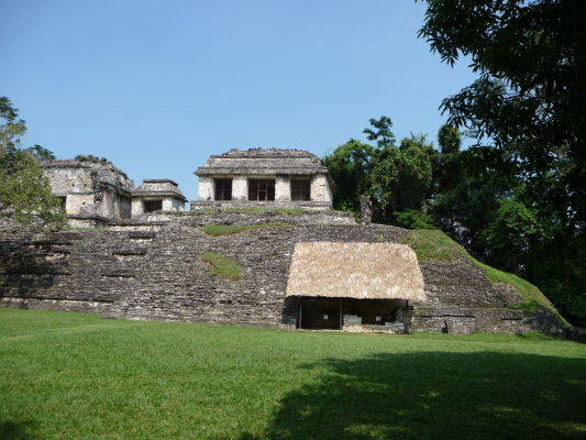 Tzv. Severný chrám (Templo del Norte) v Palenque