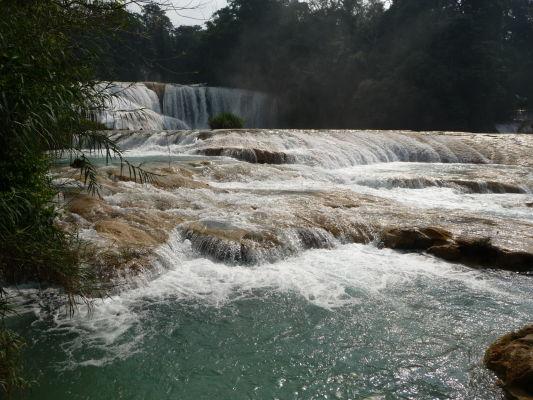Kaskády Agua Azul neďaleko Palenque