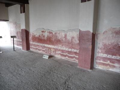 Zachované maľby v paláci