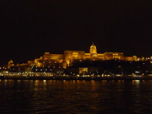 Budínsky hrad v noci