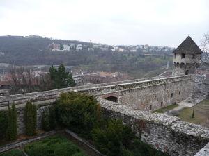 Pohľad do záhrad Budínskeho hradu