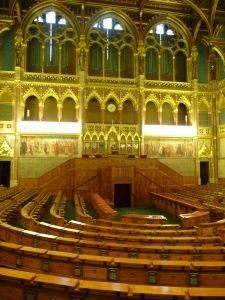 Maďarský parlament - Zasadacia miestnosť