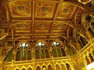 Maďarský parlament - Dekoratívny strop