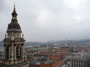 Výhľad z kupoly Baziliky sv. Štefana - V diaľke Budínsky hrad