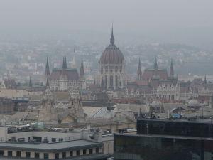 Výhľad z kupoly Baziliky sv. Štefana - Parlament