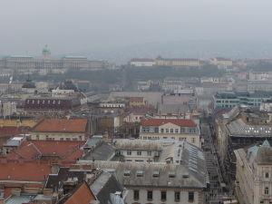 Výhľad z kupoly Baziliky sv. Štefana - V diaľke vidieť Budínsky hrad