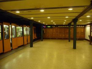 Historická linka metra pod Andrássyho ulicou