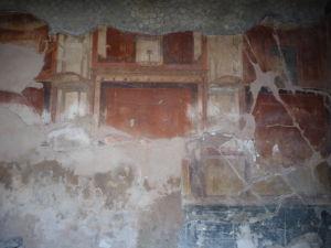 Zvyšky omietky s maľbami typickými pre 4. štýl