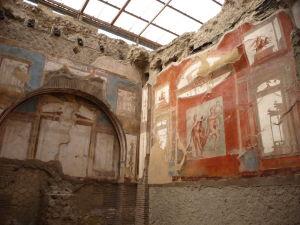 Maľby typické pre 4. štýl - Sacello degli Augustali - Združenie pre uctievanie cisára