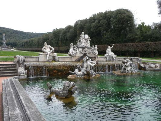 Fontána bohyne Ceres v parku kráľovského paláca Reggia di Caserta