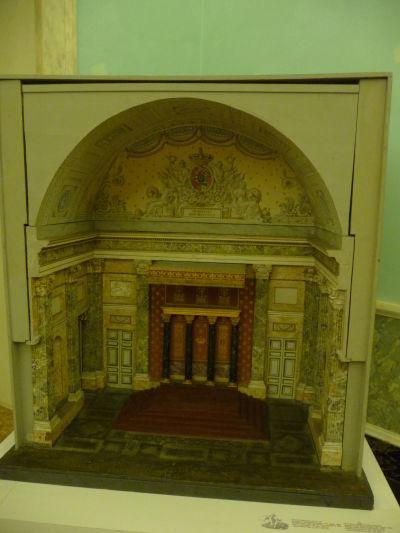 Model trónnej miestnosti v kráľovskom paláci Reggia di Caserta