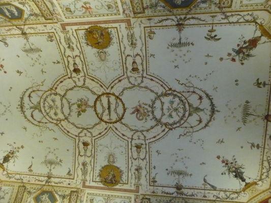 Neoklasicistický strop v kráľovskom paláci Reggia di Caserta