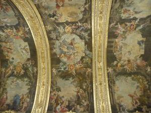Interiéry Katedrály sv. Jána - Strop zdobený výjavmi zo života sv. Jána