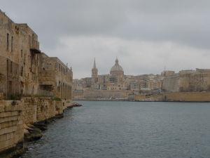 Pohľad na Vallettu od Pevnosti Manoel