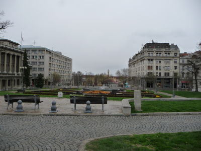 Park vedľa palácov