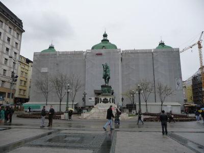 Národné múzeum - ako vidíte, prebieha rekonštrukcia