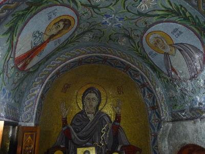 Interiér Kostola sv. Petky - Mozaiky