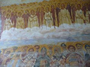 Kláštor Žiča - Fresky vo vstupnej bráne