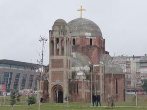 Nedokončená srbská ortodoxná Katedrála Krista Spasiteľa