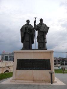 Sochy v Skopje - Sv. Cyril a Metod nemôžu chýbať