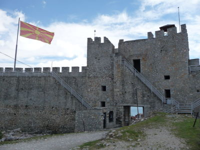Samuelov hrad - Hlavná brána zvnútra