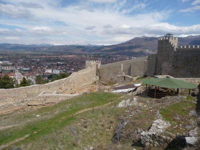 Výhľad na Ohrid z hradu