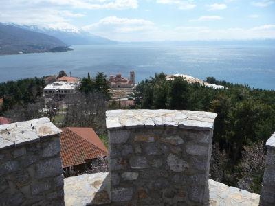 Výhľad na Ohridské jazero z hradu