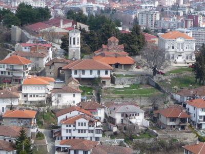 Pohľad na Ohrid a Kostol Matky Božej Perivleptos