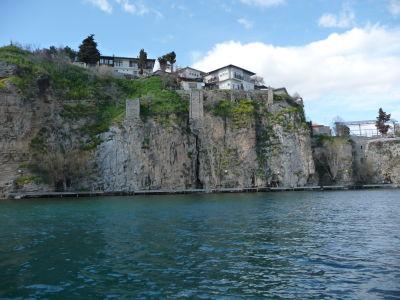 Útesy okolo Ohridského jazera