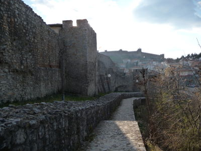 Hradby okolo starého mesta Ohrid