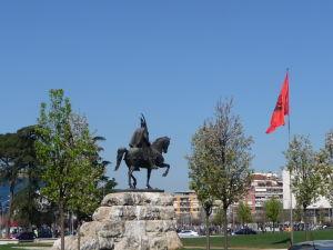 Skanderbegova jazdecká socha