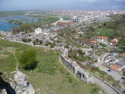 Výhľad z pevnosti na Skadar