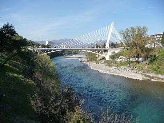 Miléniový most (Most Milenijum) v Podgorici
