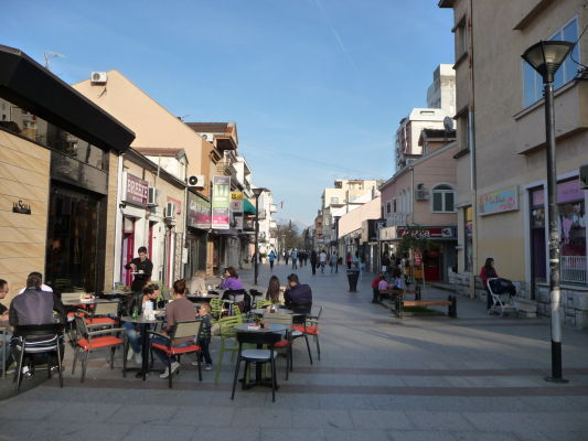 Hercegovačka - hlavné pešie korzo v Podgorici